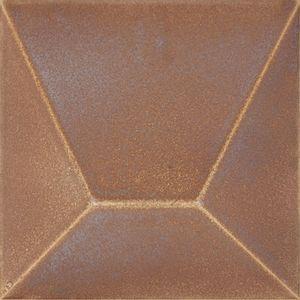 """Azulejo Roca Block 15,4x15,4cm Brilhante Retificado Cobre Classe """"A"""""""