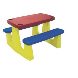 Mesa de Plástico Infantil Tramontina Picnic Retangular 89,5x83cm Colorida