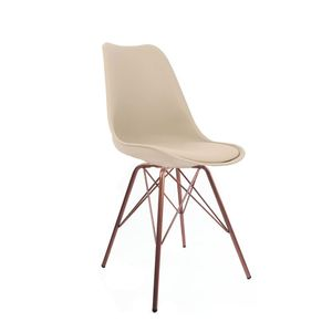 Cadeira Decorativa Empório Tiffany Saarinen Tower Cobre/Nude