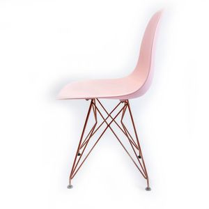 Cadeira Decorativa Empório Tiffany Eames Eiffel Cobre/Rosa