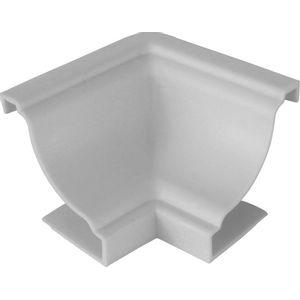 União de Canto Interno PVC Plastilit 4 Peças 30x40mm Branco Neve
