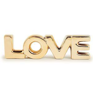 Adorno Mart Collection Love Dourado
