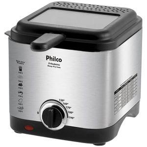 Fritadeira Elétrica com Óleo Philco Deep Fry 1,8L 900W Inox