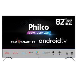 "Smart TV Philco 82"" Android Backlight E-Led PTV82K90AGIB UHD 4K"