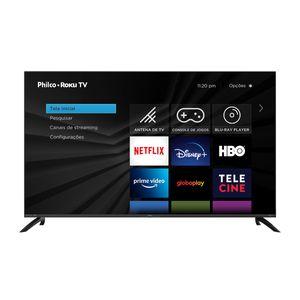 "Fast Smart TV Philco Roku 58"" PTV58G70RCBL 4K LED UHD Preta"